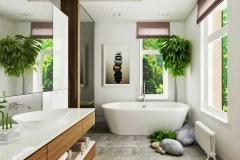 interior casa feng shui baño